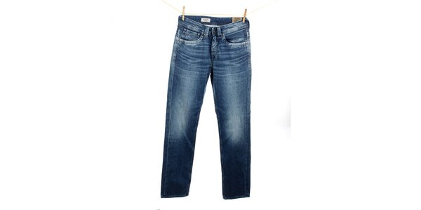 Pánske modré rovno strihané džínsy Pepe Jeans