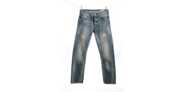 Pánske svetlo modré džínsy s predraním Pepe Jeans