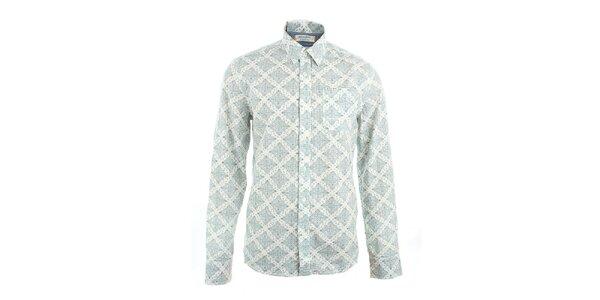 Pánska biela košeľa s potlačou Pepe Jeans