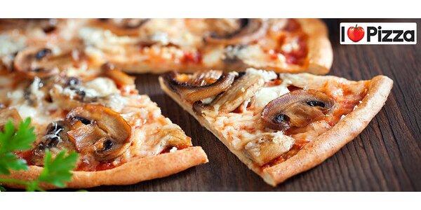 Veľká pizza 800-850g a dva nápoje