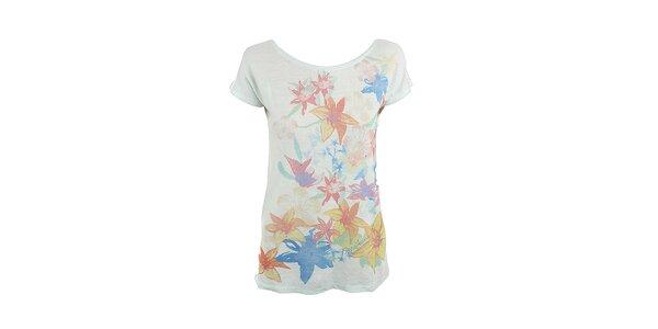 Dámske kvetinové tričko Pepe Jeans