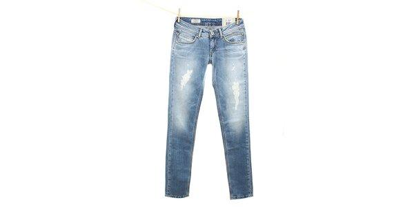 Dámske svetle modré slim fit džínsy Pepe Jeans