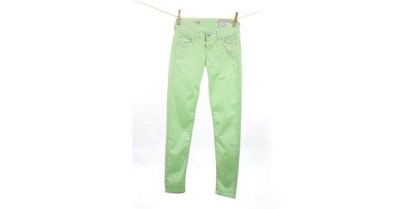 Dámske mätovo zelené slim fit džínsy Pepe Jeans