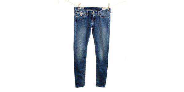 Dámske modré slim fit džínsy Pepe Jeans