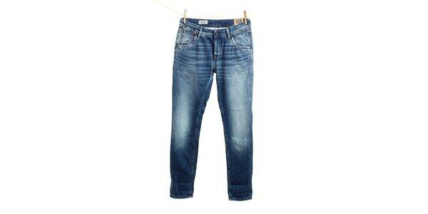 Dámske modré vyšisované džínsy Pepe Jeans
