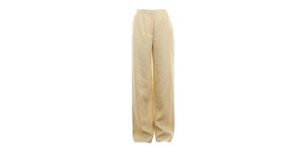 Dámske dlhé žlté nohavice Max Mara