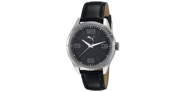 Dámske čierne analogové hodinky Puma