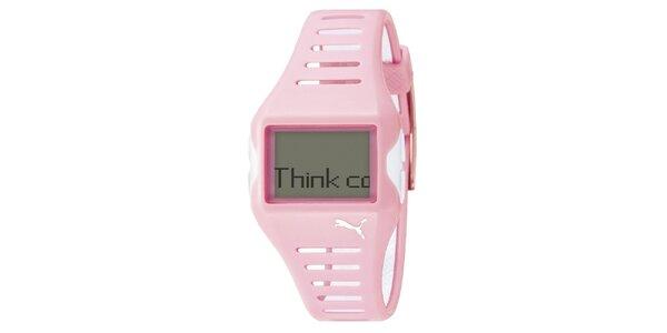 Dámske ružové plastové hodinky Puma