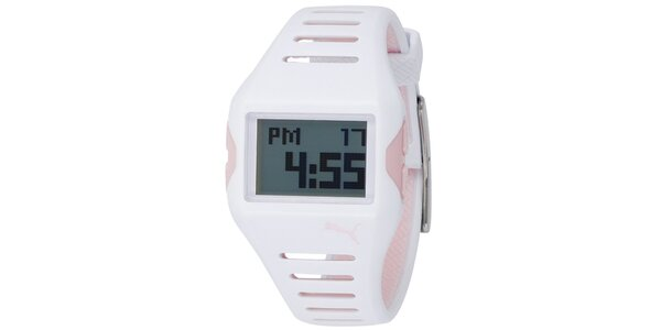 Plastové biele hodinky Puma