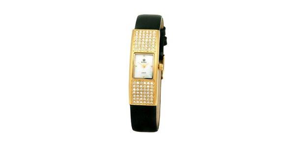 Dámske zlaté hodinky s kamienkami Royal London