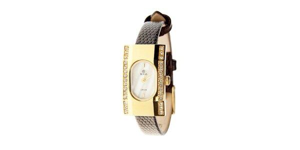 Dámske hnedé hodinky so žltým remienkom Royal London