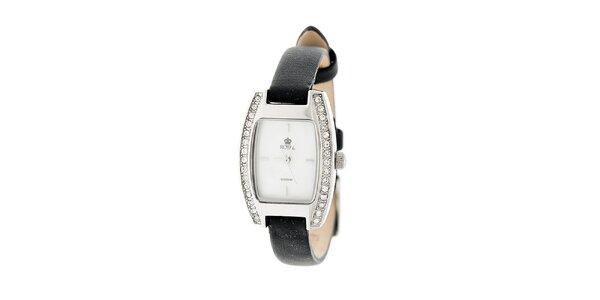 Dámske strieborné hodinky s kamienkami Royal London