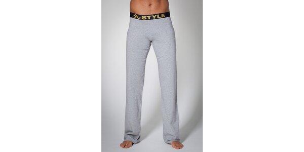 Pánske šedé nohavice A-Style
