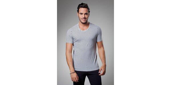 Pánske biele tričko A-Style s potlačou