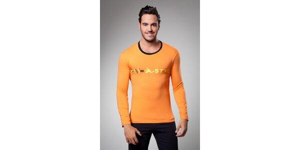 Pánske oranžové tričko A-Style s potlačou