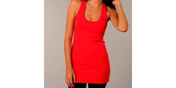 Dámske oranžovo-červené dlhé tričko Naffta