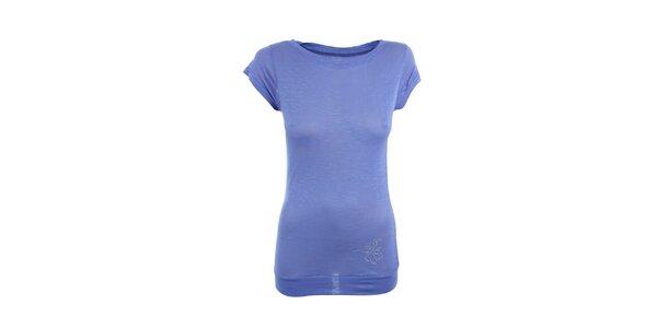 Dámske fialové tričko s malou potlačou Loap