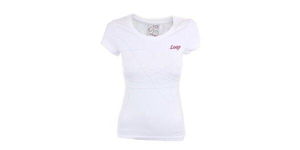 Dámske biele tričko s potlačou Loap