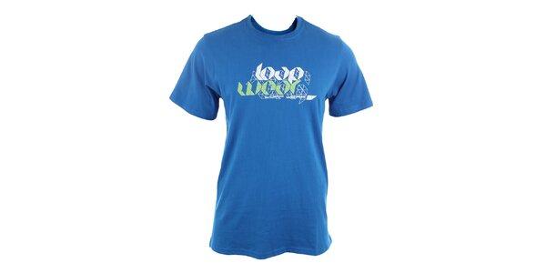 Pánske modré tričko s potlačou Loap