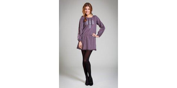 Dámske tmavo fialové šaty Pepita Pérez