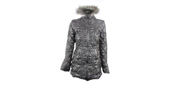 Dámsky strieborný lesklý kabát Phard