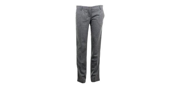 Dámske šedé nohavice s prúžkom Phard