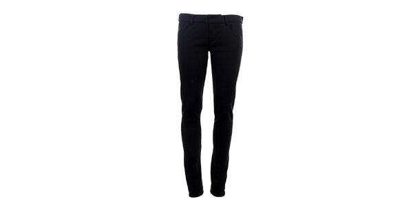 Dámske úzke čierne nohavice s lurexovými detailmi Phard