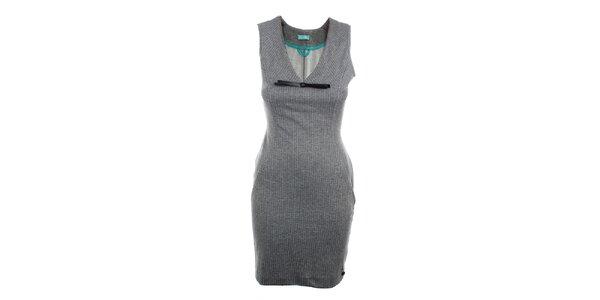 Dámske šedé šaty bez rukávov Phard