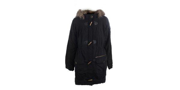 Dámsky čierny kabát Vila