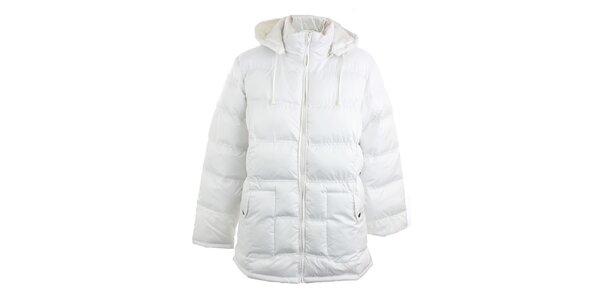 Biely prešívaný kabát Line Collection