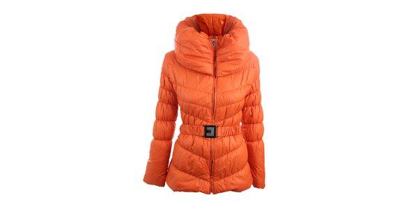 Dámska oranžová bunda s vysokým golierom Mezzo