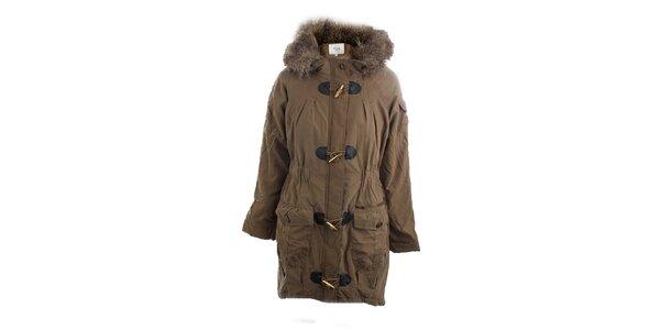 Dámsky hnedý kabát Vila