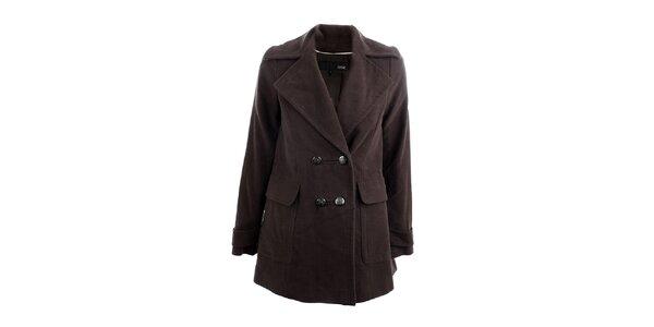 Dámsky tmavo hnedý kabát Next