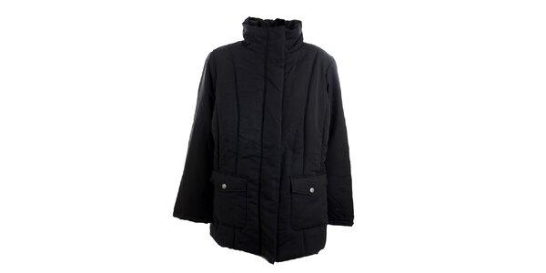 Dámsky čierny kabát Ikebana