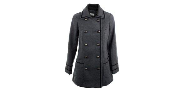 Dámsky šedý dvojradový kabát K.Women