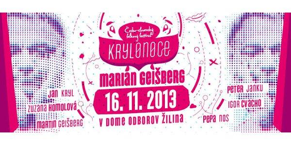 Lístky na festival Krylonoce v Žiline