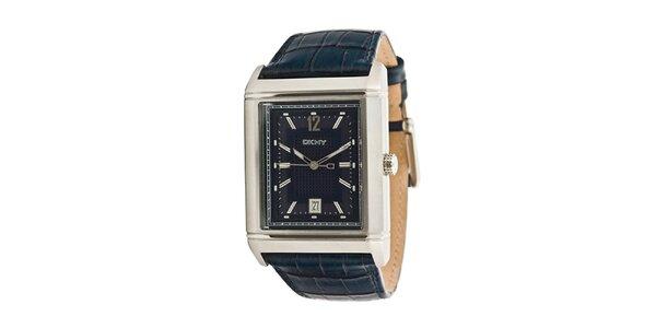 Pánske analogové hodinky s tmavo modrým náramkom DKNY