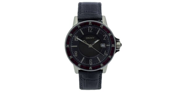 Pánske analogové hodinky s kryštáľmi DKNY