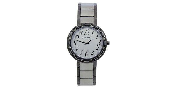 Dámske náramkové hodinky s kryštáľmi DKNY