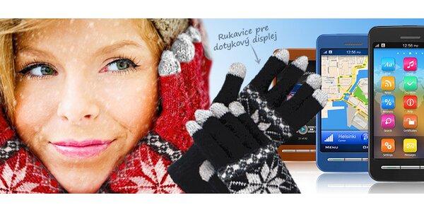 Zimné rukavice pre dotykové telefóny v 5 farebných prevedeniach.