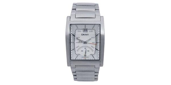 Dámske strieborno tónované náramkové hodinky DKNY
