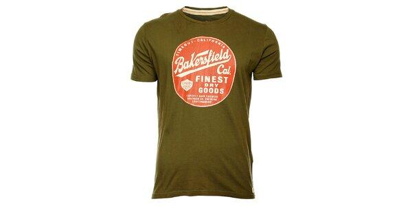 Pánske khaki tričko Timeout