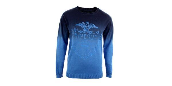 Pánsky modro tónovaný sveter Timeout