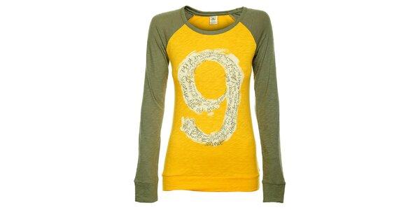 Dámske žlto-zelené tričko Timeout s dlhým rukávom