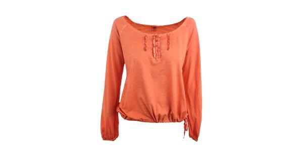 Dámske pomarančové tričko s žabó Timeout