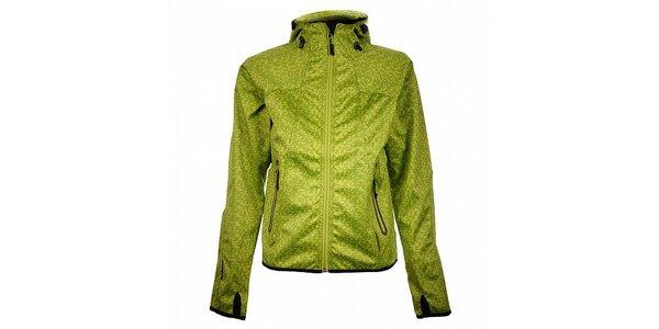 Dámska svetlo zelená funkčná bodkovaná bunda Trimm Nelli