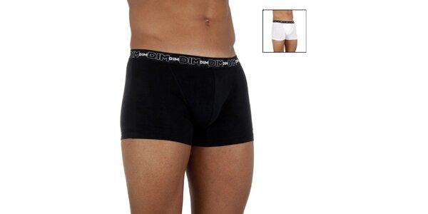 Dvoje pánske boxerky DIM biele a čierne