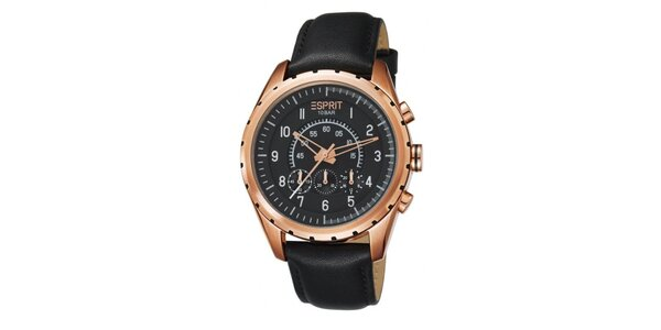 Pánske pozlátené analogové hodinky Esprit