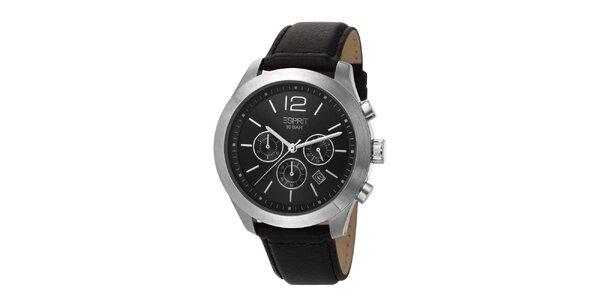 Pánske hodinky s chronografom a čiernym ciferníkom Esprit