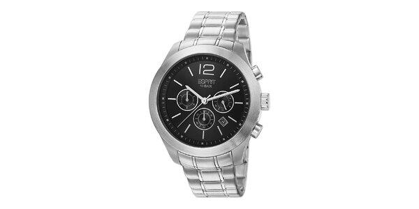 Pánske strieborno tónované hodinky s chronografom Esprit